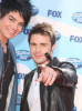 Kris Allen and Adam Lambert arrive at the American Idol Season 8 Grand Finale held at Nokia Theatre L.A. Live on May 20, 2009 in Los Angeles, California