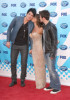 Adam Lambert with Paula Abdul and Kris Allen arrive at the American Idol Season 8 Grand Finale held at Nokia Theatre L.A. Live on May 20, 2009 in Los Angeles, California