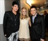desktop wallpaper photo of Adam Lambert with Carrie Underwood and Kris Allen backstage of American Idol season8 on May 19th 2009