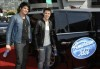 Kris Allen and Adam Lambert arriving at the Kodak theater for their final performance of american idol season 8