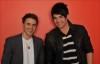 Photo shoot of the top two contestants of American Idol Kris Allen and Adam Lambert