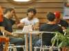 Jesus Luz accompanied by three friends in a cafeteria in Leblon  Zona Sul Rio on March 26th 2009