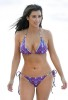 kim kardashian candids in a purple two pieces bathing suit On the beach on May 23rd 2009 2