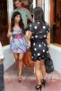 kim kardashian spotted in Miami on May 18th 2009 with her sister Kourtney