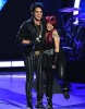 adam Lambert on stage with Allison