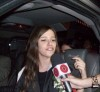 Lara Scandar arrives to Cairo Airport in Egypt after leaving star academy 4