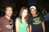Diala Ouda wearing a simple green top with two fans