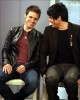 Adam Lambert with Kris Allen at the Today Show  on May 28th 2009 16