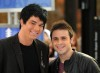 Adam Lambert with Kris Allen at the Today Show  on May 28th 2009 3