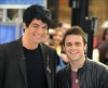 Adam Lambert with Kris Allen at the Today Show  on May 28th 2009 10
