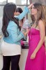 Kim Kardashian seen shopping at Harmony Lane Boutique on June 2nd 2009 with Brittny Gastineau in the pink dress