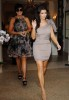 Kim Kardashian wearing a purple dress at the DPA 2009 Gift Lounge in Monte Carlo on June 9th 2009 with her mom Kris Jenner 1