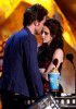 Robert Pattinson and Kristen Stewart accept the Best Kiss award onstage during the 18th Annual MTV Movie Awards on May 31st 2009 in California 2