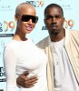 Kanye West and his girlfriend Amber Rose arrive on the the red carpet at the 2009 BET Awards held at the Shrine Auditorium on June 28th in Los Angeles 3