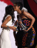 Keri Hilson gets the Best New Artist Award onstage during the 2009 BET Awards held at the Shrine Auditorium on June 28th 2009 in Los Angeles 1