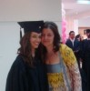 Lara Scandar with he mom on her graduation day