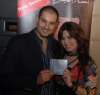 pictures of Bashar Qaisi at the launch of his new cd album with Amani Sweisi