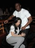 Kim Kardashian and Reggie Bush attend the AXE Instinct Power Of Leather Launch Party on June 24th 2009 14