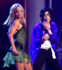 Michael Jackson performs The Way You Make Me Feel with Britney Spears at the MTV Music Awards