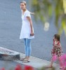 Suri Cruise spotted at CBS Studios on June 19th 2009 with her mom 2