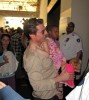 Suri Cruise with her Dad at Smithsonian National Air and Space Museum on May 23rd 2009