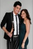 Adam Lambert and Kara DioGuardi picture at the press room of the Hollywood Life 11th Annual Young Hollywood Awards with his trophy on June 9th 2009 1