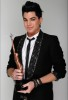 Adam Lambert picture at the press room of the Hollywood Life 11th Annual Young Hollywood Awards with his trophy on June 9th 2009 2