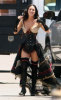 Megan Fox on the filming set wearing a medivial outfit 2