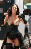 Megan Fox on the filming set wearing a medivial outfit 3