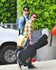 Adam Lambert and Kris Allen seen arriving at the Recording Studio on June 10th 2009 4