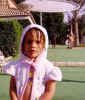 princess Lara Scandar picture when she was a baby at the swimming pool