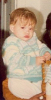 princess Lara Scandar picture when she was a baby with golden hair and chubby face