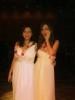 princess Lara Scandar wearing a floral white dress