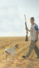 Michel Azzi teenager picture during a hunting trip with his dog