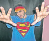 picture of Naser Abu Lafia wearing a superman tshirt