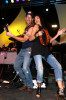James Denton and Teri Hatcher perform onstage during the 2nd Annual Band From TV Night held at Cal State Fullerton Titan Stadium on July 26th 2008 in Fullerton California 2