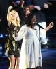 Jennifer Hudson singing on stage during the Michael Jackson Memorial Service