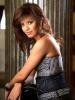 Amal Boshosha photoshoot in a denim cute strapless dress