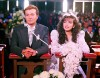 Thalia high quality picture from the 1992 latin drama series Maria Mercedes at the church wearing the wedding dress
