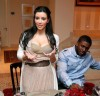 kim kardashian and her boyfriend Reggie Bush at a Private Dinner for the Diamond Empowerment Fund on July 16th 2009 1