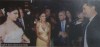 Haifa Wehbe picture from her wedding to Abu Hashima with singer Ragheb Alama singing at her wedding