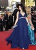 Haifa Wehbe at Cannes festival 2009 in a blue princess cut dress