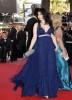 Haifa Wehbe at Cannes festival 2009 in a blue princess cut dress