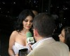 Hayfa Wahbe spotted backstage at the 2009 Murex Dor Lebanese Awards picture during a TV Channel interview after winning the 2009 pop icon 5