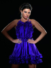 Haifa Wehbe recent photoshoot wearing a dark purple dress