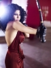 haifa wehbe in a backless red dress from the video clip Mosh Adra