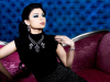 Haifa Wehbe jewlery promotional photo wearing a diamond beaded necklace