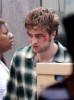 Robert Pattinson at the set of the new movie remember meNew York City on July 20th 2009 bruised makeup
