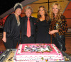 picture of Nigel Lythgoe with judge Mary Murphy host Cat Deeley and Mia Michaels at the celebration of the 100th episode of So You Think You Can Dance at CBS Studios on July 23rd 2009 in Los Angeles