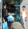 Adam Lambert and his boyfriend Drake LaBry at Kitson Men in Los Angeles on June 2nd 2009